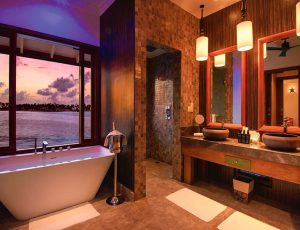 Oblu Select at Sangeli Water Villa Bathroom with Somos Lifestyle Management